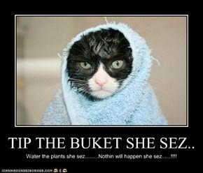 TIP THE BUKET SHE SEZ..