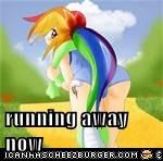 running away now