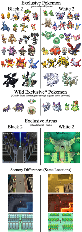 The Differences Between Black 2 and White 2