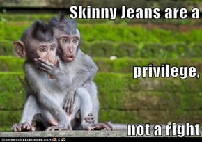 Skinny Jeans are a privilege, not a right