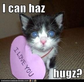 I can haz  hugz?