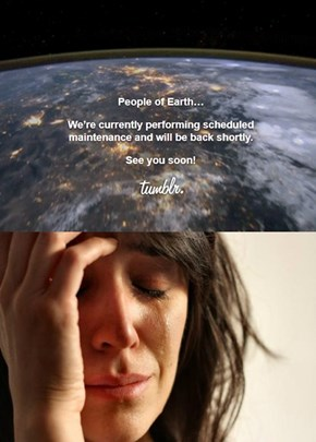 Tumblr maintenance first world problems