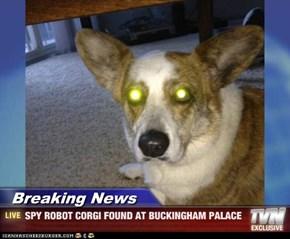 Breaking News - SPY ROBOT CORGI FOUND AT BUCKINGHAM PALACE
