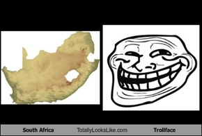 South Africa Totally Looks Like Trollface