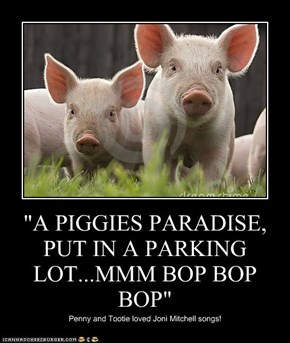 """A PIGGIES PARADISE, PUT IN A PARKING LOT...MMM BOP BOP BOP"""