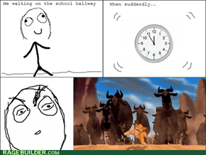 School stampede