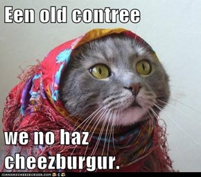Een old contree  we no haz cheezburgur.
