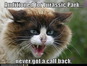 Auditioned for Jurassic Park...  never got a call back.