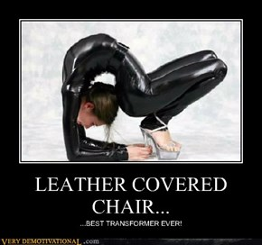 LEATHER COVERED CHAIR...
