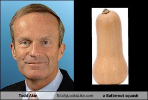 Todd Akin Totally Looks Like a Butternut squash