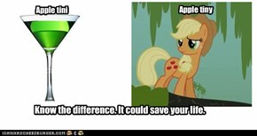 Drink TO Apple Jack.