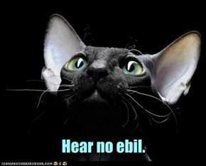 Hear no ebil.