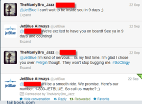 Tweeting with JetBlue