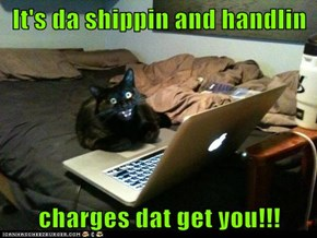 It's da shippin and handlin  charges dat get you!!!