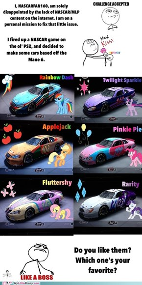 My Little Pony and NASCAR