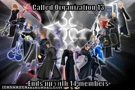 Called Organization 13  Ends up with 14 members