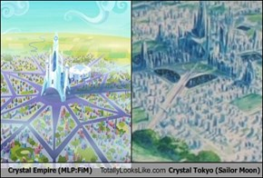 Crystal Empire (MLP:FiM) Totally Looks Like Crystal Tokyo (Sailor Moon)