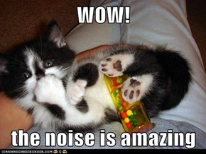WOW!  the noise is amazing