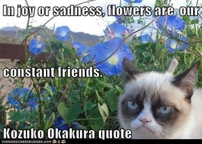 In joy or sadness, flowers are  our   constant friends. Kozuko Okakura quote