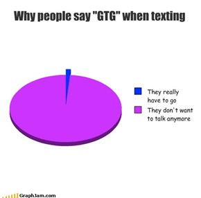 "Why people say ""GTG"" when texting"