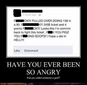 HAVE YOU EVER BEEN SO ANGRY