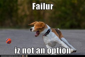 Failur  iz not an option