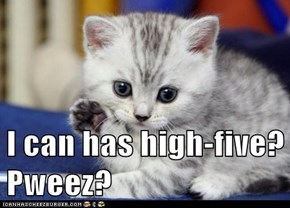 I can has high-five? Pweez?