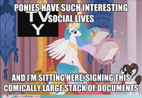 In Case you Were Wondering What Celestia Does all Day