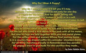 Why Do I Wear A Poppy?