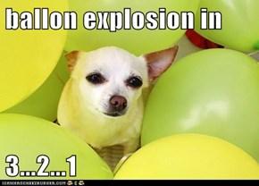 ballon explosion in  3...2...1