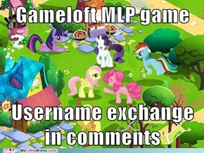 Gameloft Username Exchange