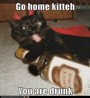 Go home kitteh  You are drunk