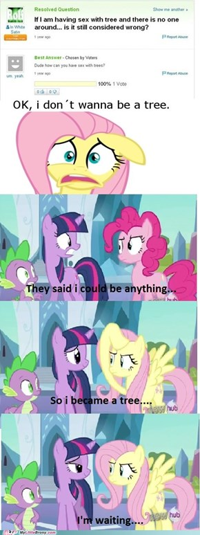 Pinkie Pie wants to be a tree
