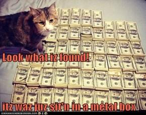 Look what iz found! itz waz juz sit'n in a metal box