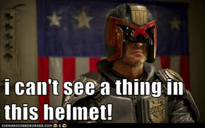 i can't see a thing in this helmet!