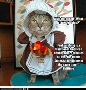Little Lizzie explains Fanksgibbing