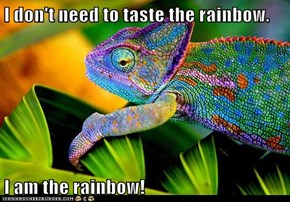 I don't need to taste the rainbow.  I am the rainbow!