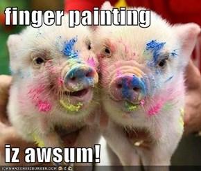 finger painting  iz awsum!
