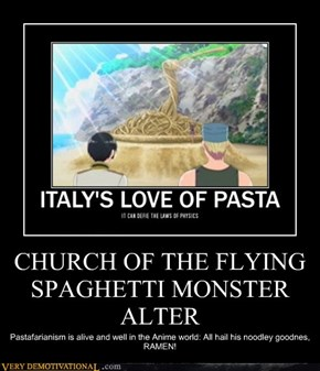 CHURCH OF THE FLYING SPAGHETTI MONSTER ALTER