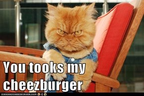 You tooks my cheezburger