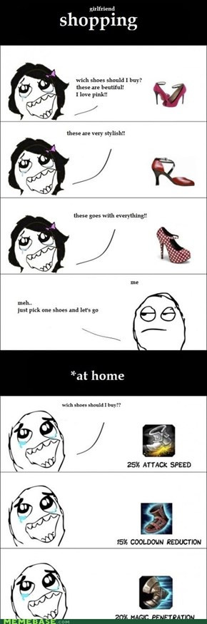 Women Shoe Shopping VS Men Shoe Shopping