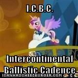 I.C.B.C.  Intercontinental Ballistic Cadence