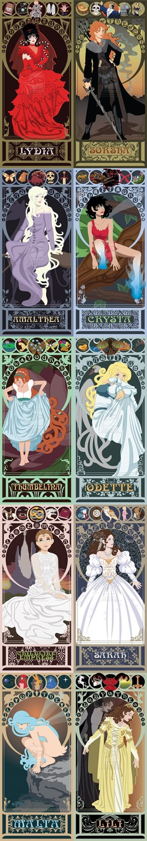 Art Nouveau Heroines From the '80s and '90s