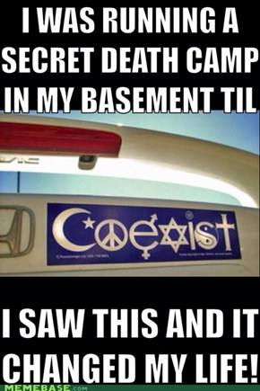 You can change the world with a bumper sticker!