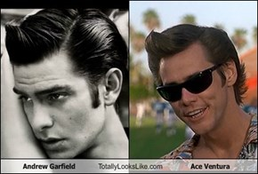 Andrew Garfield Totally Looks Like Ace Ventura