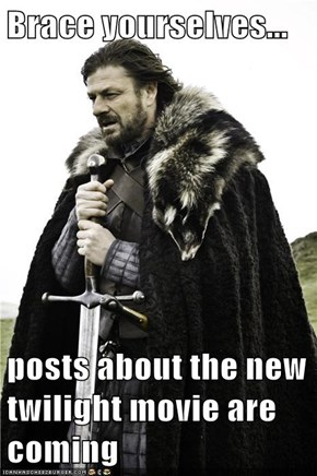 Brace yourselves...  posts about the new twilight movie are coming
