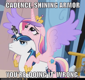 CADENCE, SHINING ARMOR  YOU'RE 'DOING IT' WRONG.