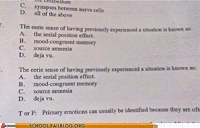 Well Played, Psych Exam