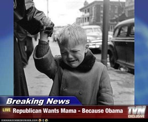 Breaking News - Republican Wants Mama - Because Obama