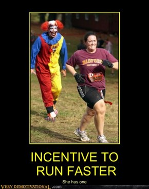 INCENTIVE TO  RUN FASTER